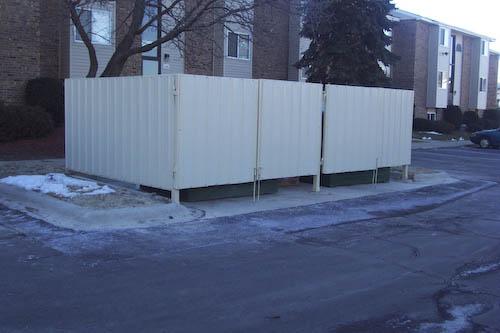 Metal Structures Gallery Dumpster Enclosures Standing