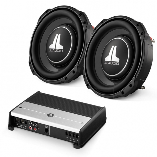 jl audio dual 10tw3d8 and xd600/1v2 subwoofer package