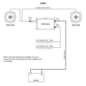 Rockford Fosgate Harley Davidson 2 Speaker Stereo Kit 9813: R1HD29813