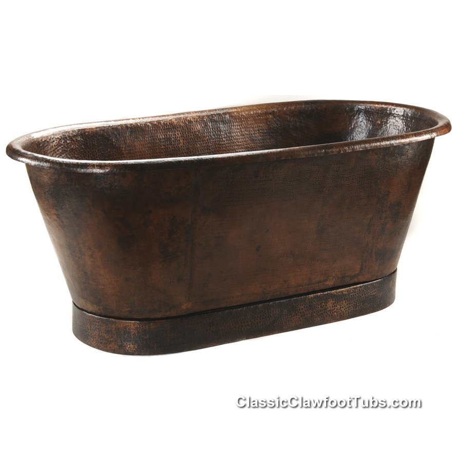 72 Hammered Copper Double Ended Bathtub Classic