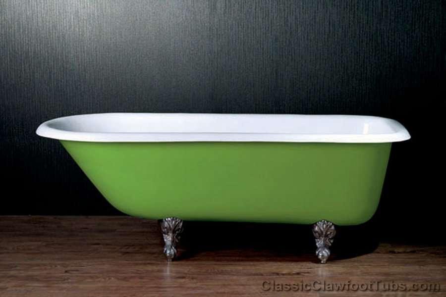 67 Rolled Rim Cast Iron Clawfoot Tub Classic Clawfoot Tub