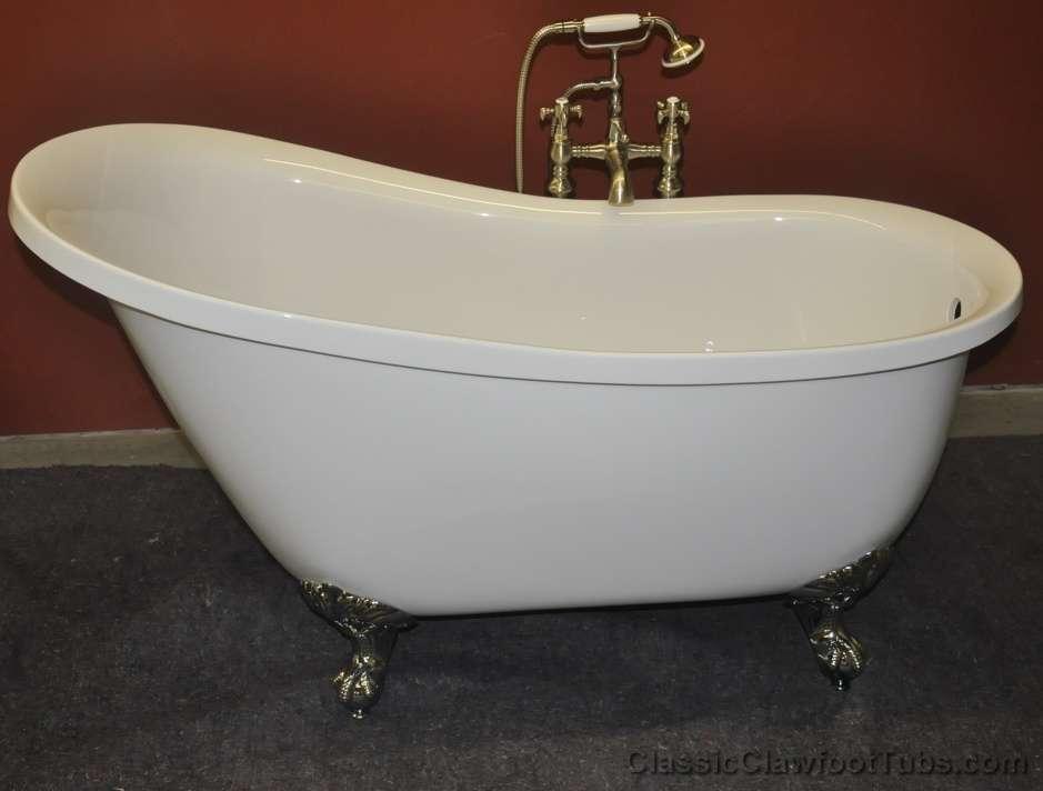 55 Acrylic Slipper Clawfoot Tub Classic Clawfoot Tub