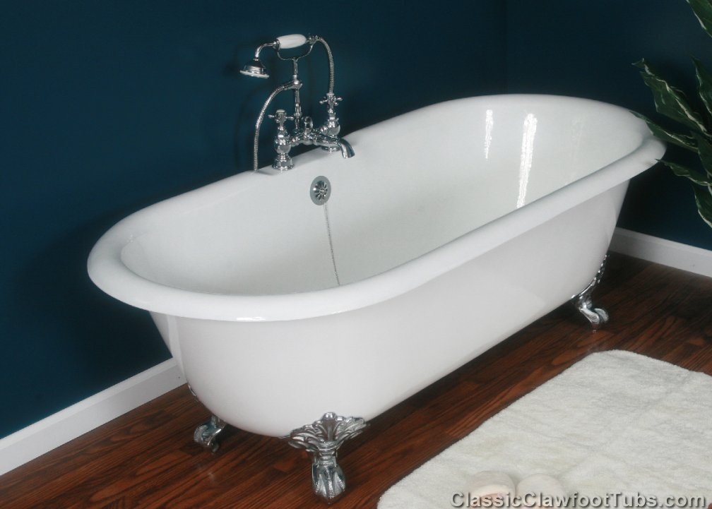 67 Quot Cast Iron Double Ended Clawfoot Tub Classic Clawfoot Tub