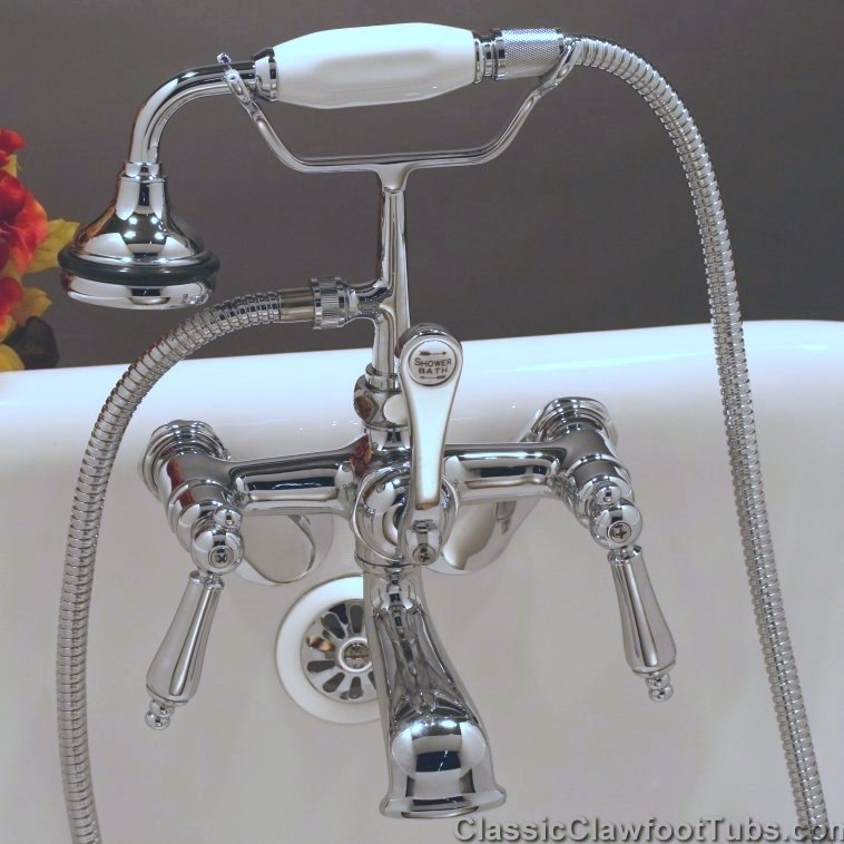 clawfoot tub british telephone faucet w
