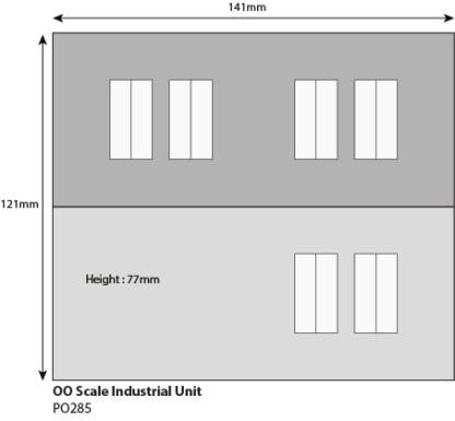 Metcalfe 00 Scale Modern Industrial Unit