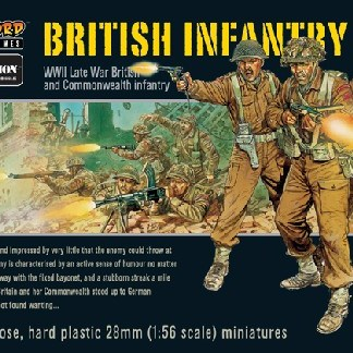 Warlord Games, Bolt Action 28mm British Infantry figures.