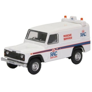 Oxford Models 1-76 Land Rover Defender LWB Hard Back, RAC