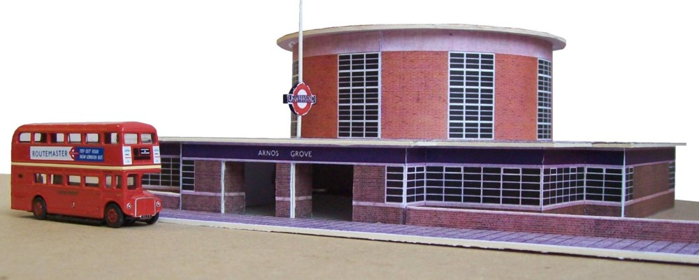 Kingsway N scale, Arnos Grove Station kit , Kit build service.