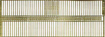 Etched brass railings