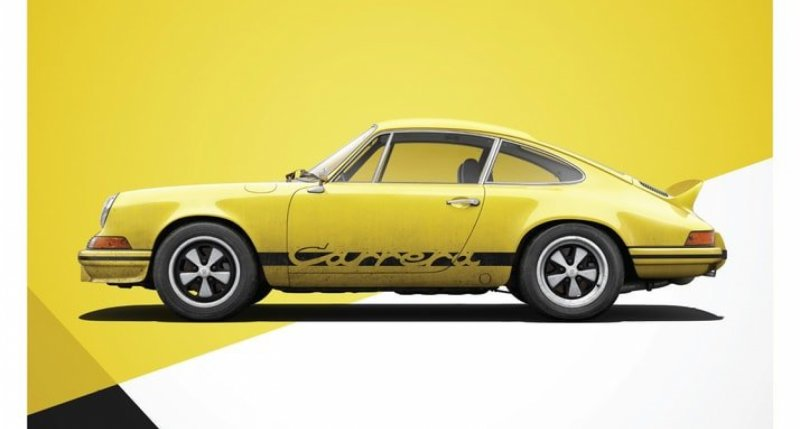 porsche 911 rs yellow limited