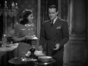 1939 Cat and the Canary Bob Hope and Paulette Goddard