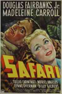 1940 Safari Movie Poster