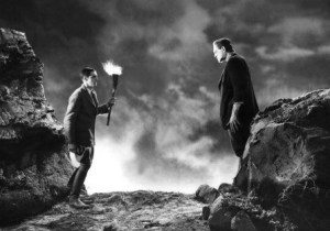 1931 Frankensterin Karloff Mountaintop