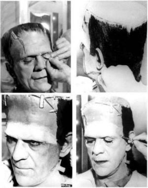 karloff makeup Frankenstein 1931