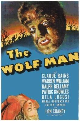 The Wolf Man (1941) starring Lon Chaney and Claude Rains