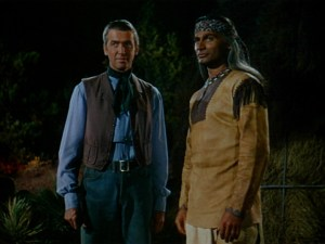 Jeff Chander and Jimmy Stewart in Broken Arrow
