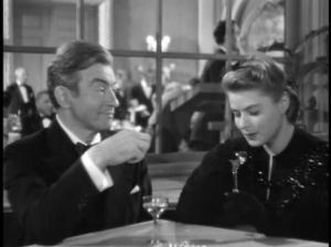 Claude Rains and Ingrid Bergman in Alfred Hitchcock's 1946 film Notorious