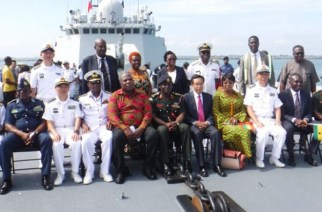 Chinese Naval Group Arrives At Tema Port