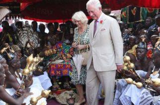 The Asantehene, King Otumfuo Nana Osei Tutu II, arranged a special ceremony to welcome the couple