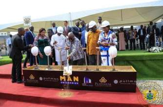 President Cuts Sod For Pullman Accra Airport City Project