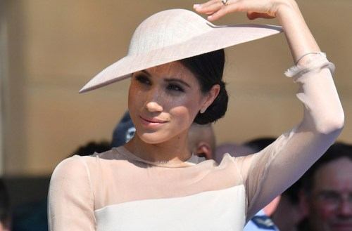 The Duchess of Sussex at a garden party at Buckingham Palace in London which she is attending as her first royal engagement after being married. PRESS ASSOCIATION Photo. Picture date: Tuesday May 22, 2018. The event is part of the celebrations to mark the70th birthday of the Prince of Wales. See PA story ROYAL Sussex. Photo credit should read: Dominic Lipinski/PA Wire
