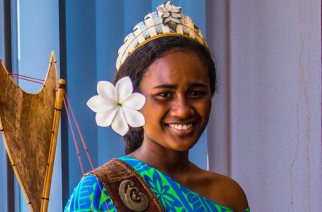 Miss Leoshina Kariha, a beauty queen and UNICEF Youth Advocate was called black and ugly at a beauty pageant in Tonga -- Photo Credit: UNICEF/2019/Kate Holt