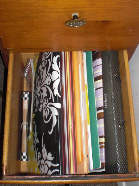 Bottom right drawer.
