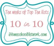 10WeeksofTop10 300x254 You Might Be a Pick & Choose Homeschooler IF..