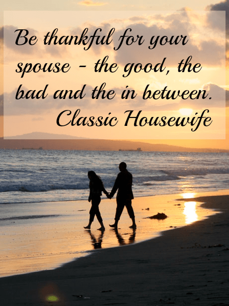 Be thankful for your spouse