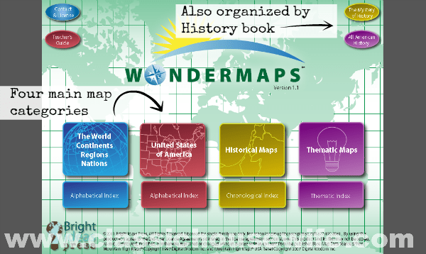WonderMaps by Region, Time Period, or History Book