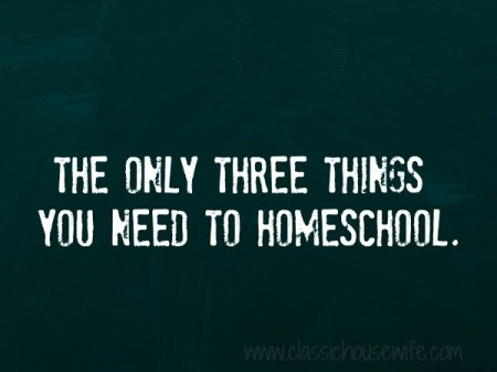 what you need to homeschool