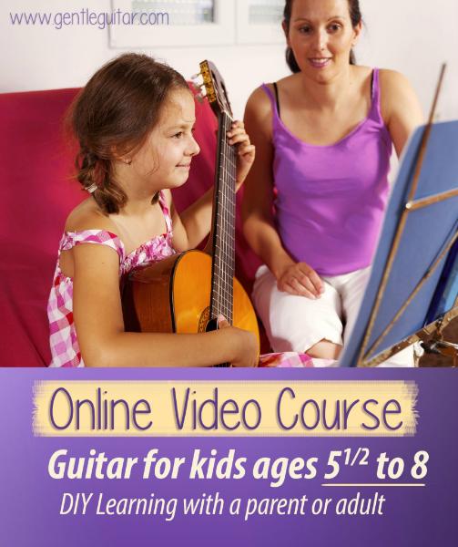 Gentle Guitar Course Online For Kids