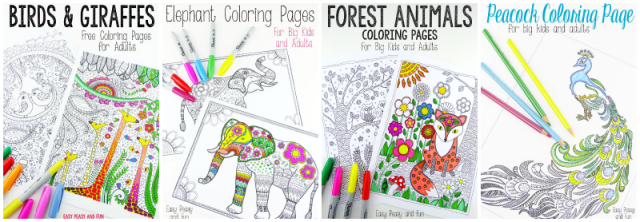 Coloring Pages from Easy Peasy Fun