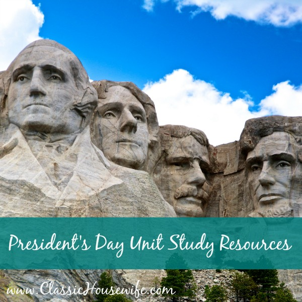 President's Day Unit Study Resources