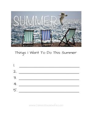 Summer Wishlist - Easy
