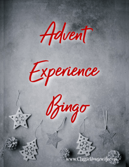 advent experience bingo
