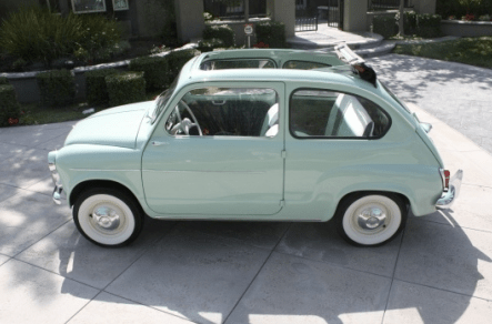 1960 fiat 600 convertible classic italian cars for sale. Black Bedroom Furniture Sets. Home Design Ideas