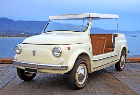 1965 fiat 500 jolly classic italian cars for sale. Black Bedroom Furniture Sets. Home Design Ideas