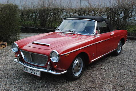 1960 fiat 1200 cabriolet classic italian cars for sale. Black Bedroom Furniture Sets. Home Design Ideas