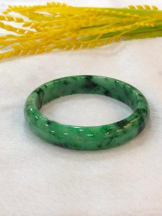 intense green jade bangle