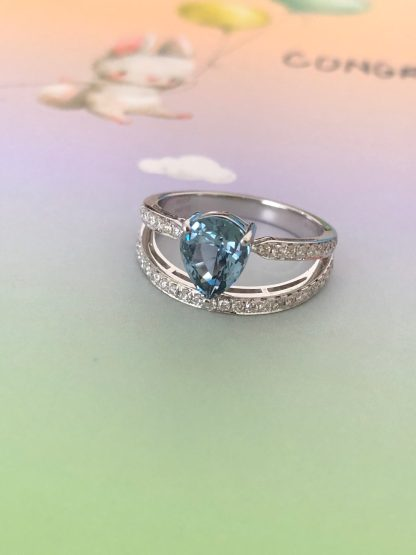 unheated blue sapphire ring