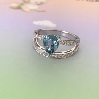 unheated blue sapphire ring