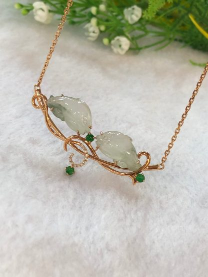 icy jade dolphins necklace