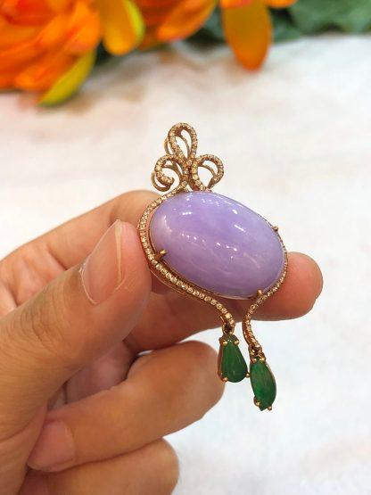 lavender jade pendant