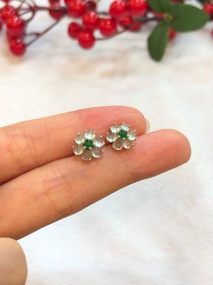 icy jade earrings