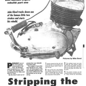 BSA Bantam Engine Rebuild