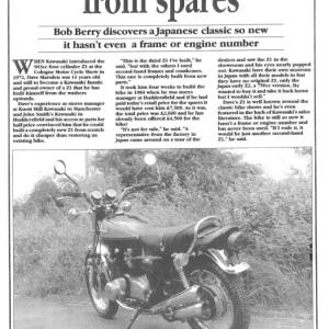 Kawasaki Z1 Built from spares
