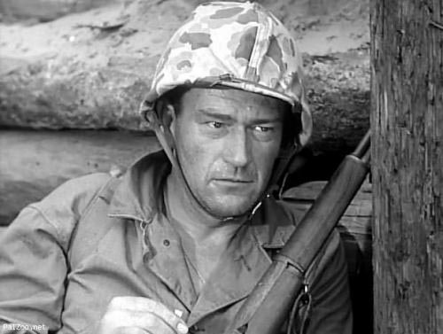 John Wayne in Sands of Iwo Jima, classic movie, Allan Dwan