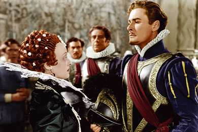 Errol Flynn and betty davis, The Private Lives of Elizabeth and Essex, classic movie star, michael curtiz