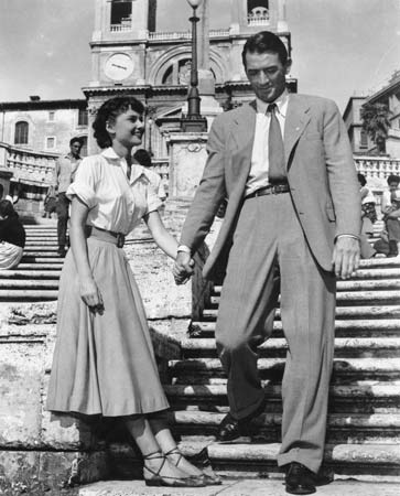 Gregory Peck, Roman Holiady. Classic Movie Actor, William Wyler